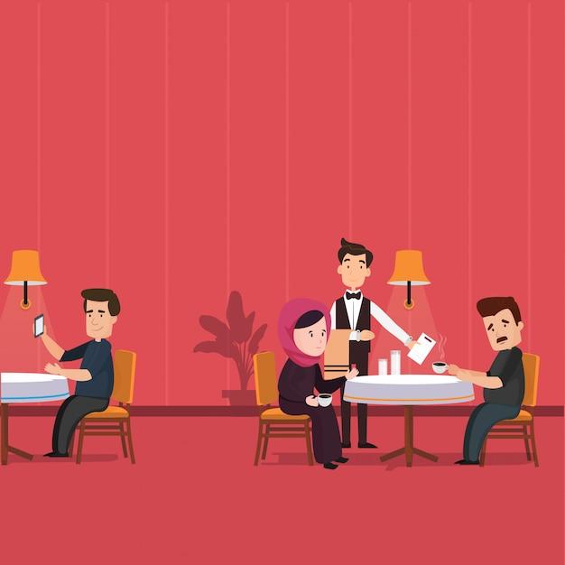 Restaurant Vecteur Premium