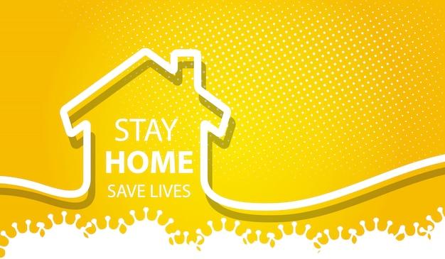 Rester à La Maison Fond De Vies Sécuritaires Vecteur gratuit