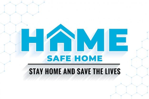 Restez à La Maison Et Sauvez Des Vies Vecteur gratuit