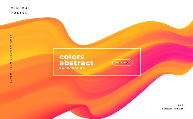 Résumé de bannière vague 3d coloré Vecteur gratuit