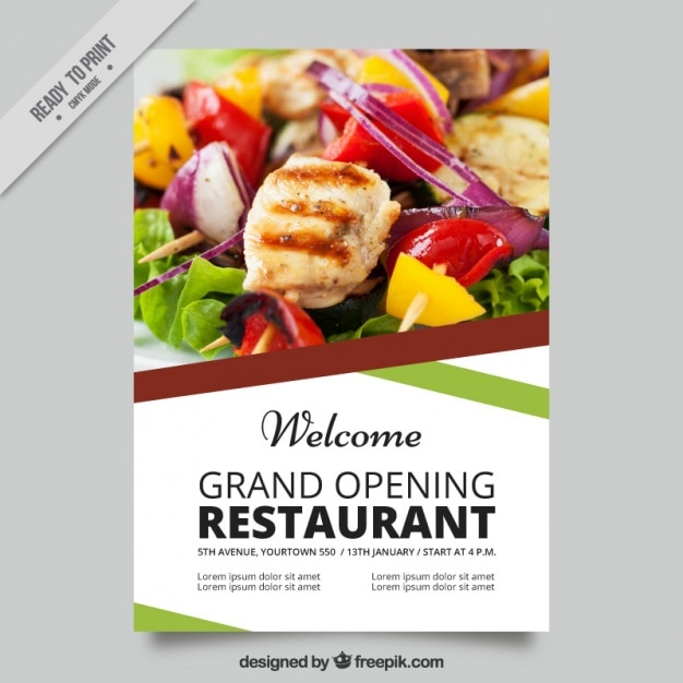 Résumé brochure de restaurant Vecteur gratuit