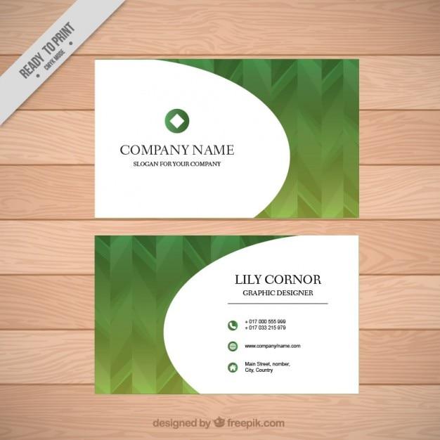 Resume Carte De Visite Vert