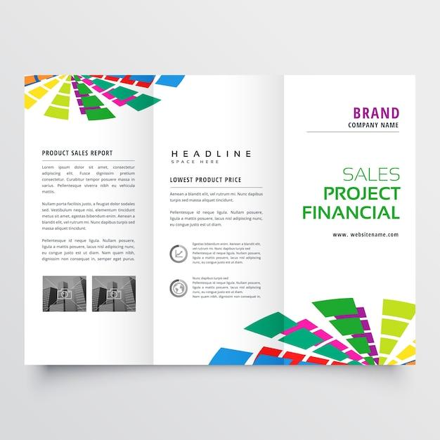 Résumé coloré brochure conception modèle illustration vectorielle Vecteur gratuit
