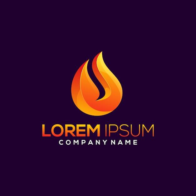 Résumé De Conception De Logo De Feu Vecteur Premium