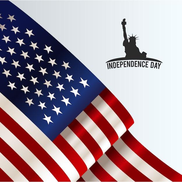 Résumé des drapeaux américains Vecteur gratuit