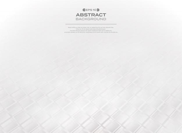 Résumé du motif carré blanc gris dégradé Vecteur Premium