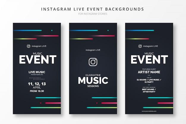 Résumé Des événements En Direct Sur Instagram Pour Les Histoires D'insta Vecteur gratuit