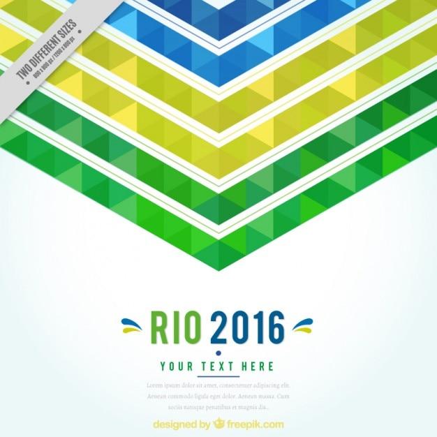 Résumé de fond de 2016 jeux olympiques Vecteur gratuit