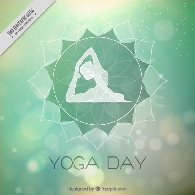 Résumé de fond bokeh du yoga Vecteur gratuit
