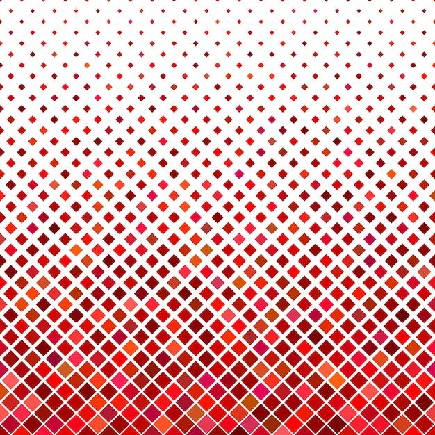 Résumé de fond carré en diagonale - graphique vectoriel géométrique à partir de carrés en tons rouges Vecteur gratuit