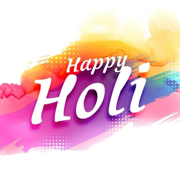 résumé fond coloré festival Holi Vecteur gratuit