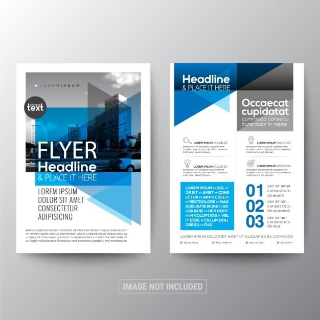 r u00e9sum u00e9 de fond g u00e9om u00e9trique bleu pour affiches brochure flyer mod u00e8le de mise en page de