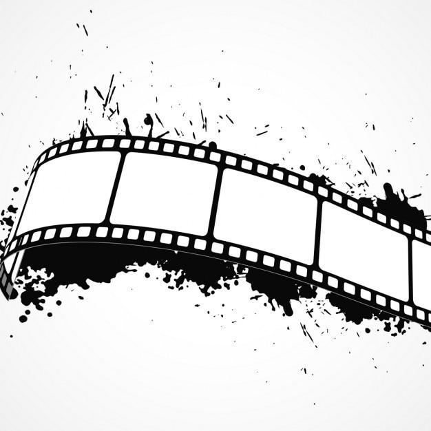 Résumé De Fond Grunge Avec Bande De Film Vecteur gratuit