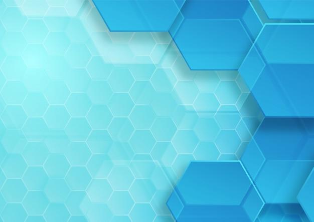 Résumé De Fond Motif Hexagone Vecteur Premium