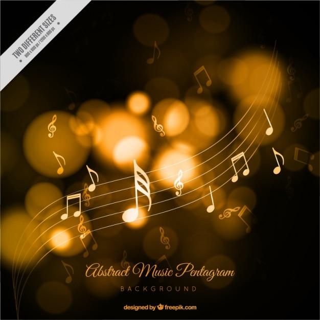 Résumé de fond de musique avec effet bokeh Vecteur gratuit