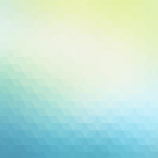 Résumé de fond polygonale dans des tons bleus et verts Vecteur gratuit
