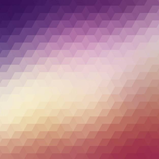 Résumé de fond polygonale dans des tons violet et rouge Vecteur gratuit