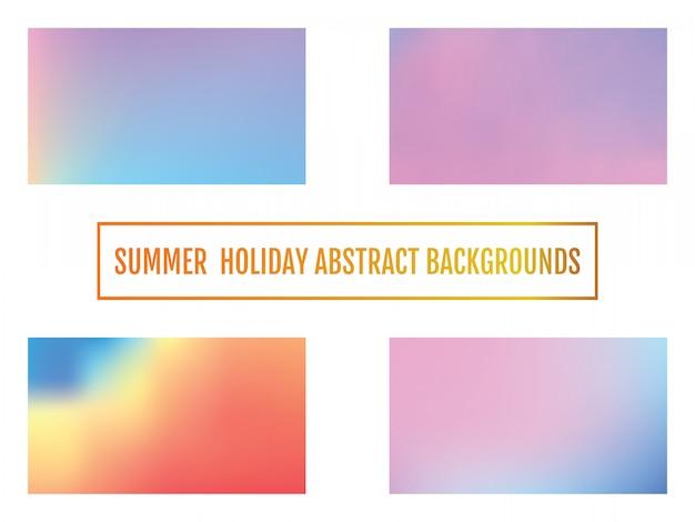 Résumé de fond de vacances d'été Vecteur Premium