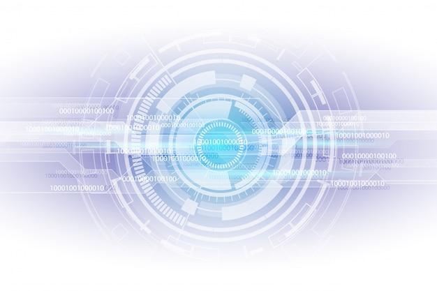 Résumé futuriste de la technologie numérique nombre matrice binaire numérique Vecteur Premium