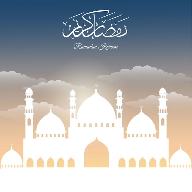 Résumé historique pour ramadan kareem Vecteur Premium