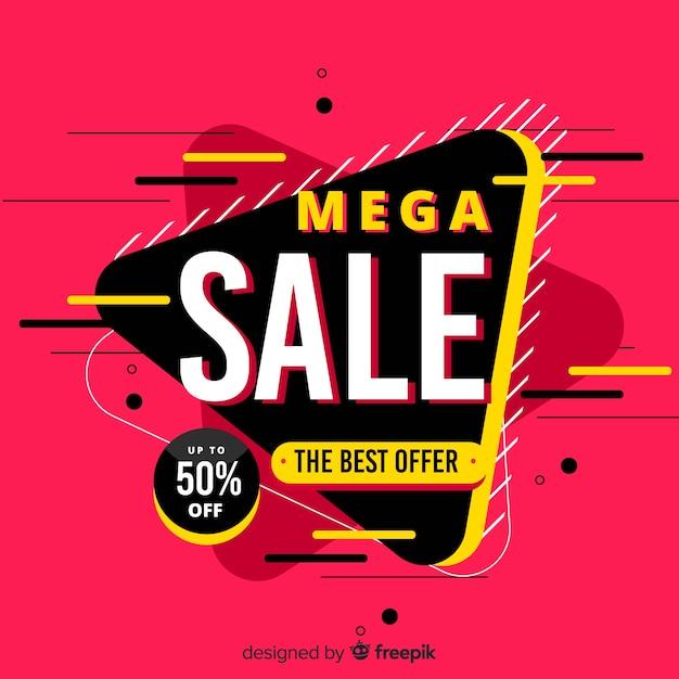 Résumé historique de la promotion des ventes Vecteur gratuit
