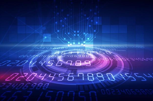 Résumé historique de la technologie hitech communication concept innovation fond Vecteur Premium