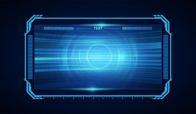Résumé hud ui gui conception virtuelle du futur système d'écran futuriste Vecteur Premium
