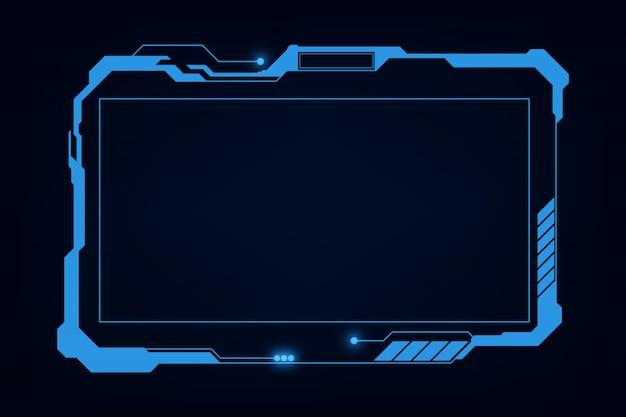 Résumé hud ui gui futur système d'écran futuriste conception virtuelle Vecteur Premium