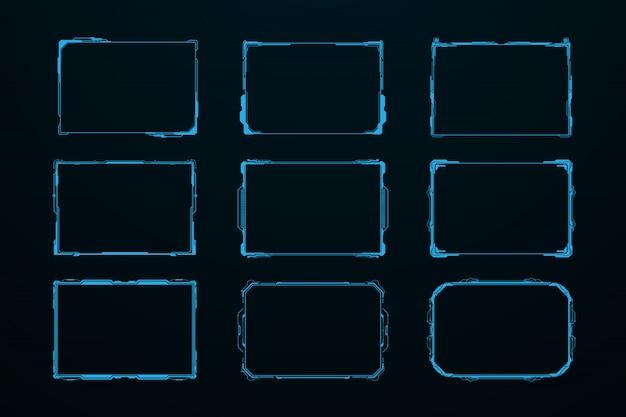 Résumé hud ui gui futur système d'écran futuriste virtuel Vecteur Premium