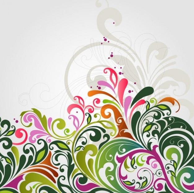 r u00e9sum u00e9 illustration florale vecteur de fond