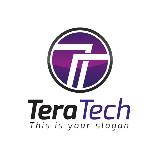 Résumé Lettre Circulaire T Logo Vecteur gratuit