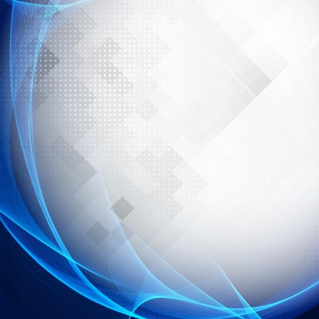 r u00e9sum u00e9  moderne  bleu  onde  g u00e9om u00e9trique  fond