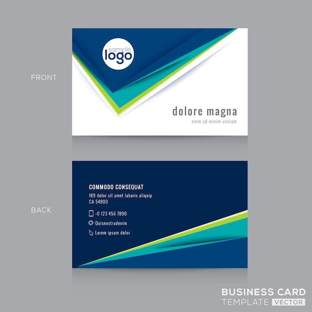 r u00e9sum u00e9 moderne carte bleu green business mod u00e8le de conception