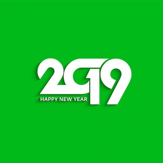 Résumé nouvel an 2019 arrière-plan de conception de texte décoratif Vecteur Premium