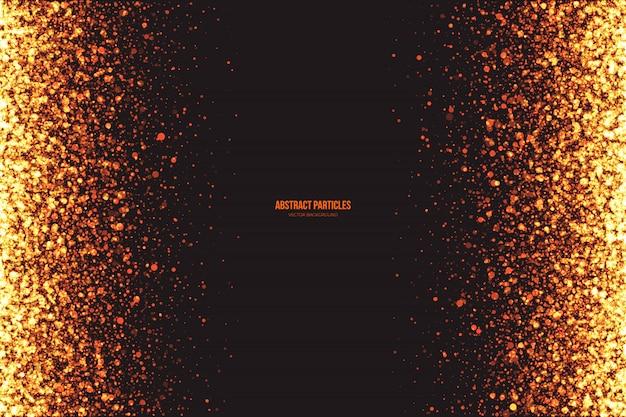 Résumé des particules rondes rougeoyantes vector background Vecteur Premium