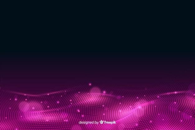 Résumé des particules rougeoyantes formes de fond avec la surface Vecteur gratuit