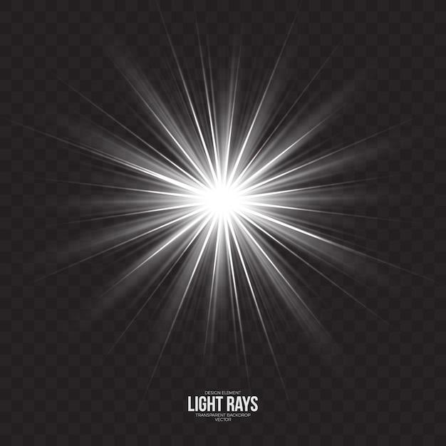 Résumé des rayons de lumière effet vectoriel Vecteur Premium