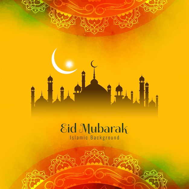 Résumé religieux eid mubarak islamique Vecteur gratuit