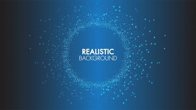 Résumé, Technologie, Fond, Concept, Communication, Relier, Points, Et, Lignes, Futuriste Vecteur Premium
