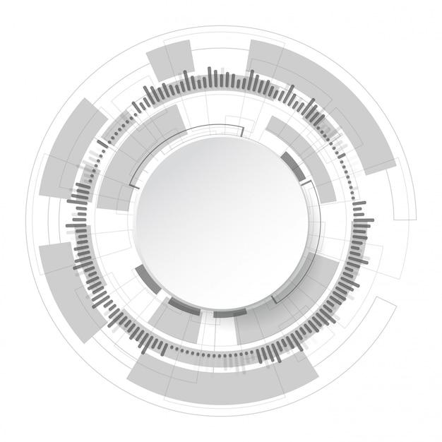 Résumé de la technologie Vecteur Premium