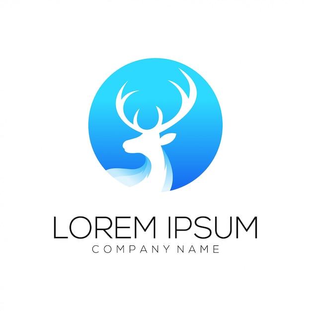 Résumé De Vecteur De Conception De Logo De Cerf Vecteur Premium