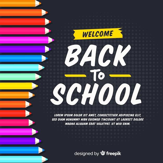 Retour Au Fond De L'école Vecteur gratuit