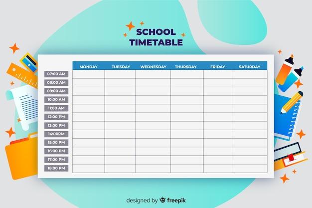 Retour au modèle de calendrier scolaire Vecteur gratuit