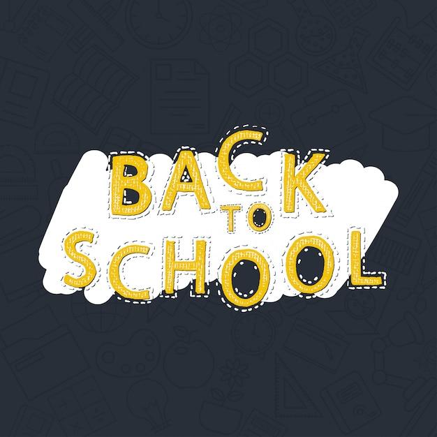 Retour au vecteur d'élément de design school Vecteur gratuit