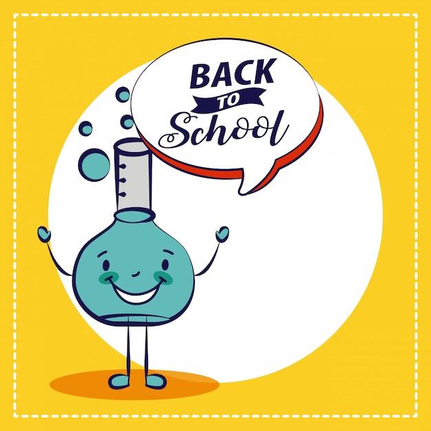Retour à l'école chimie elment élément de l'école illustration Vecteur gratuit