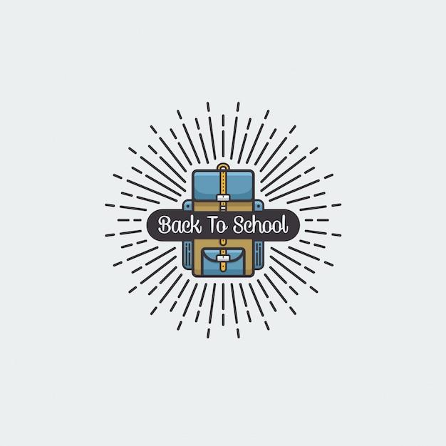 Retour à l'école icône illustration vectorielle Vecteur Premium