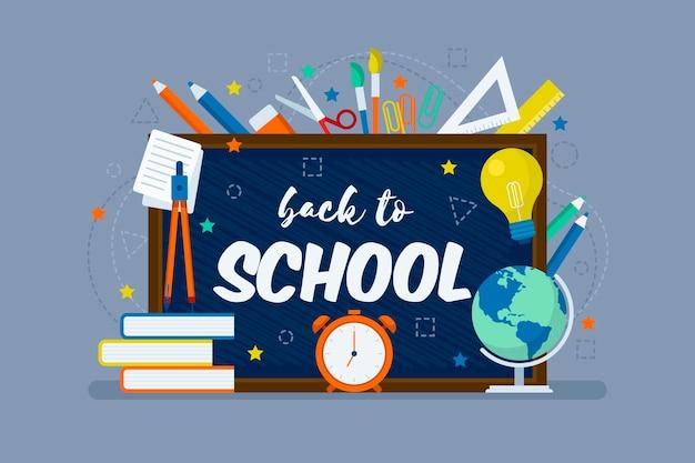 Retour à L'école Avec Papeterie Vecteur gratuit
