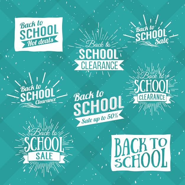 Retour à L'école Typographique - Style Vintage Retour à L'école Hot Deals Mise En Page En Format Vecteur Premium