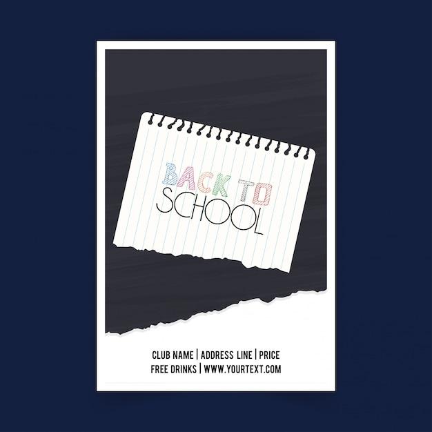 Retour à l'école vecteur vente été design brochure Vecteur Premium
