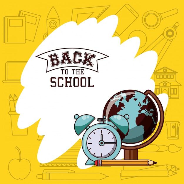 Retour à l'école Vecteur gratuit